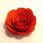 Paper Flowers // Custom Valentine Handmade Paper Roses Orange