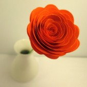 Paper Flowers // Custom Handmade Paper Roses Orange