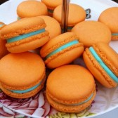 Edit Renew PromoteCopy Deactivate Delete Stats Vanilla Macarons - Orange Macaron with Aqua Blue Ganache