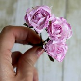 Lilac Rose Flower Hair Pin