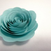 Custom Valentine Handmade Paper Roses Light Blue
