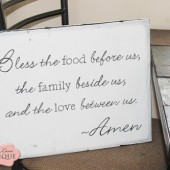 Bless the food before canvas wall art
