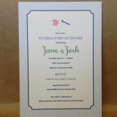 Fun and Modern Kitchen and Tool Shower / His and Hers / Chevron / Bridal Shower / Preppy / Custom Design by Darby Cards