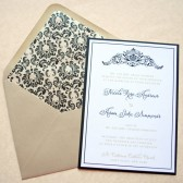 Regal Damask Wedding Invitations