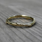 Twig Band: Yellow Gold, 2mm wide