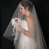 "Drop Wedding Veil 150"" Long"