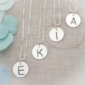 Sweet and Simple Bridesmaid Initial Necklace
