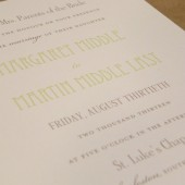 Simple / Traditional / Wedding Invitation / Rehearsal Dinner / Formal / Typography / Bridal Shower / Custom Inivtation or Party Design