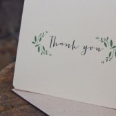 Thank You Card Set // Weddings, Bridal Showers, Everyday // Garden Theme