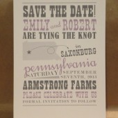 Pennsylvania Save the Date / Custom Printed Hatch Style Band Poster/ Bachelorette/ Bridal Country Fun Invitation