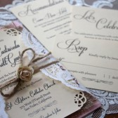 Rustic // Burlap & Lace Wedding Invitation Suite