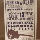 Nashville Hatch Country / Southern Save the Date / Wedding / Rehearsal Dinner with Guitar / Birthday Custom Printed Darby Cards Invitation