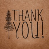 Woodsy Thank You Stamp