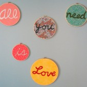Beatles All You Need is Love Hoop Art