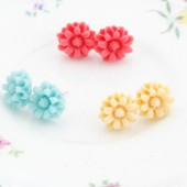 Small Flower Post Earrings