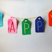 Colorful Felt Happy Banner
