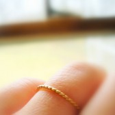 14K Gold 1.3mm Twisted Wedding Band