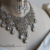 Boni crystal set, Necklace and earrings, wedding jewelry