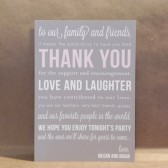 Thank You Wedding Guests / Welcome / Reception / Navy / White / Bridal / Insert Card / Stationery / Custom Design by Darby Cards