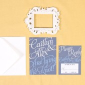 Modern Script Wedding Invitation Set