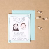 Custom Hand Drawn Couple Save the Date