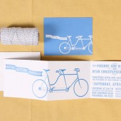 Tandem Bicycle Wedding Invitation Set