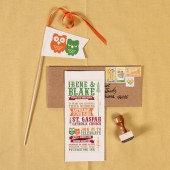 Woodsy Owl Wedding Invitation Set