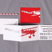 Airplane Wedding Invitation Set