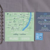 Custom Map Wedding Invitation Set