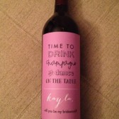 Custom Bridesmaid Wine Labels