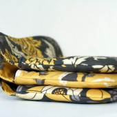 Yellow and Gray Clutch set of 3