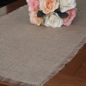 "72"" Burlap Table Runner // Weddings, Home Decor, Rustic, Shabby Chic"