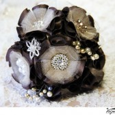 CHOCOLATE CHAMPAGNE Wedding Bridal Bouquet