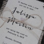Burlap Save the Date - Rustic Country Chic