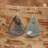 Hand made in Maine,Tree of life earrings, Small Sterling Silver