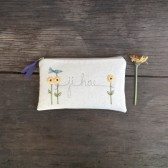 sunflower wedding clutch