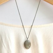 Grey Locket Necklace
