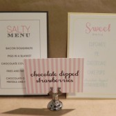 Simple Printed Menu / Sweet and Salty / Theme Modern Wedding / Party or Engagement / Small Invitation / Layered