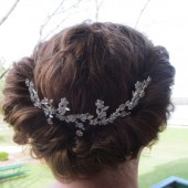 Hair Accessorie Rhinestone Floral Spray