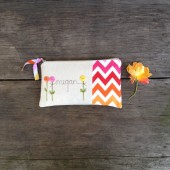 chevron wedding clutch