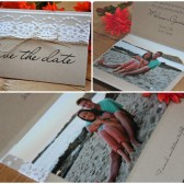 Lace Photo Save the Date - Rustic Weddings