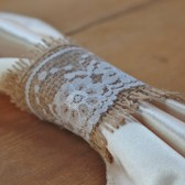 Lace & Burlap Napkin Ring // Rustic Weddings