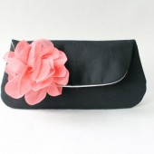 Black and Coral Purse