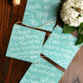 Bunting Wedding Invitation - Mint
