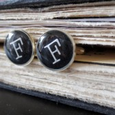Personalized Typewriter style Cuff Links