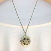 Brass Filigree Locket Necklace