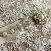 Crystal and rhinestone sash