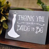 Chalkboard Bridal Shower Thank You