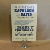 Southern Hatch Style Save the Date / Tennesee / State / Postcard / Rehersal Dinner / Birthday / Wedding / Darby Cards