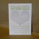 Bridal Shower / Wedding / Rehersal Dinner / Engagement Party / Heart / Invitation / Southern / Printed / Custom Inviation by Darby Cards